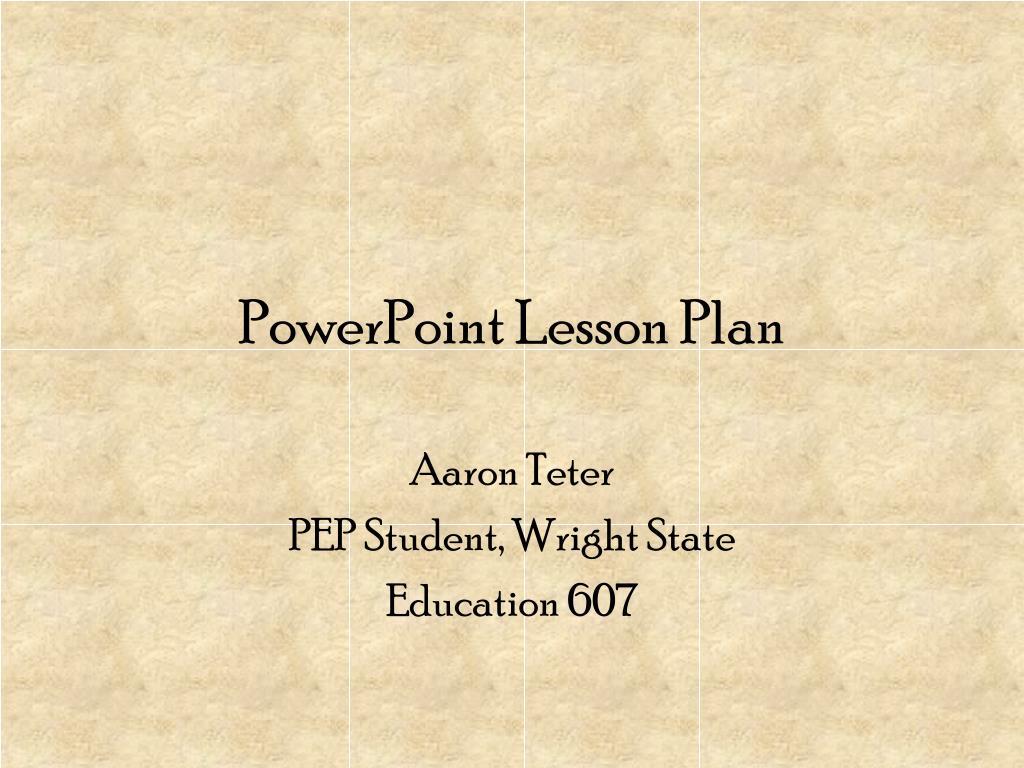 powerpoint lesson plan l.