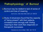 pathophysiology of burnout