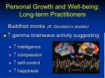 personal growth and well being long term practitioners