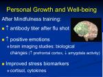 personal growth and well being