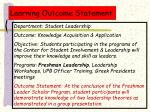 learning outcome statement23