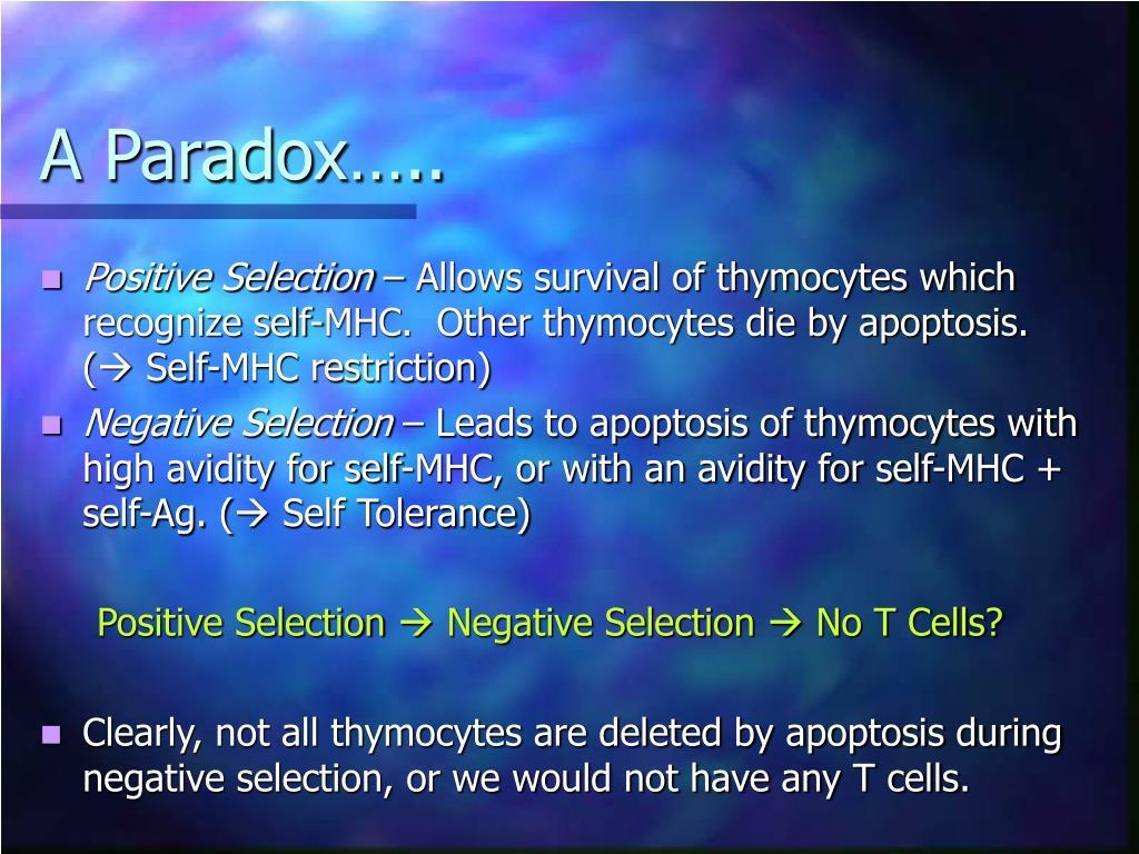 A Paradox…..