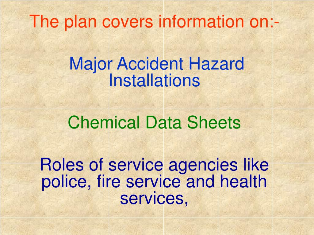 The plan covers information on:-