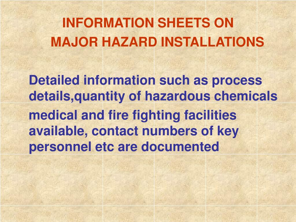 INFORMATION SHEETS