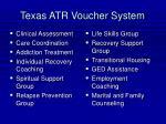 texas atr voucher system