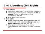 civil liberties civil rights
