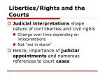 liberties rights and the courts