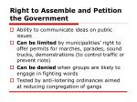 right to assemble and petition the government