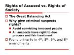 rights of accused vs rights of society
