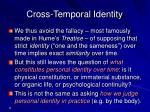 cross temporal identity