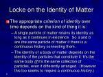 locke on the identity of matter
