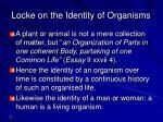 locke on the identity of organisms