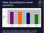 seek counseling for career concerns