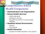 comprehensive school health components