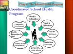 coordinated school health program