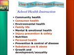 school health instruction