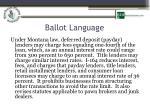 ballot language