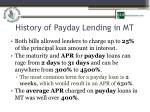 history of payday lending in mt1