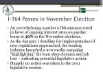 i 164 passes in november election