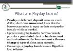 what are payday loans1