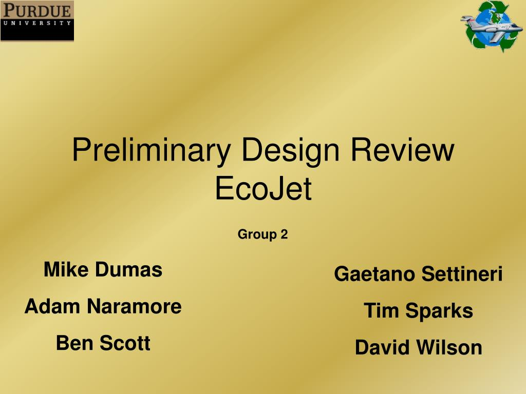 preliminary design review ecojet l.
