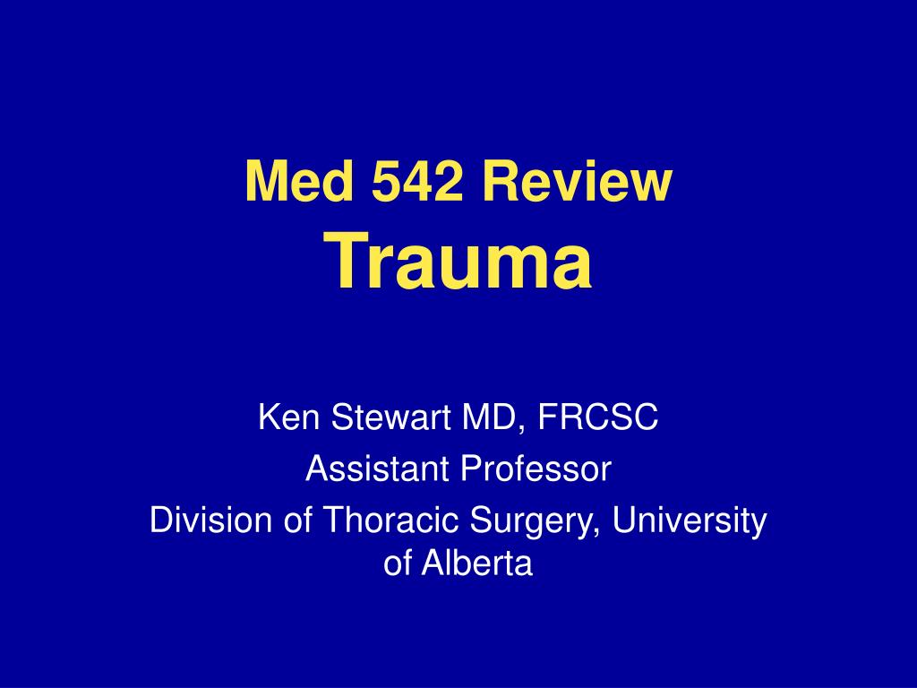 med 542 review trauma l.
