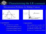 characterizing the lr continued13