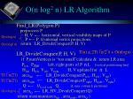 o n log 2 n lr algorithm