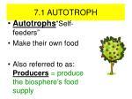 7 1 autotroph