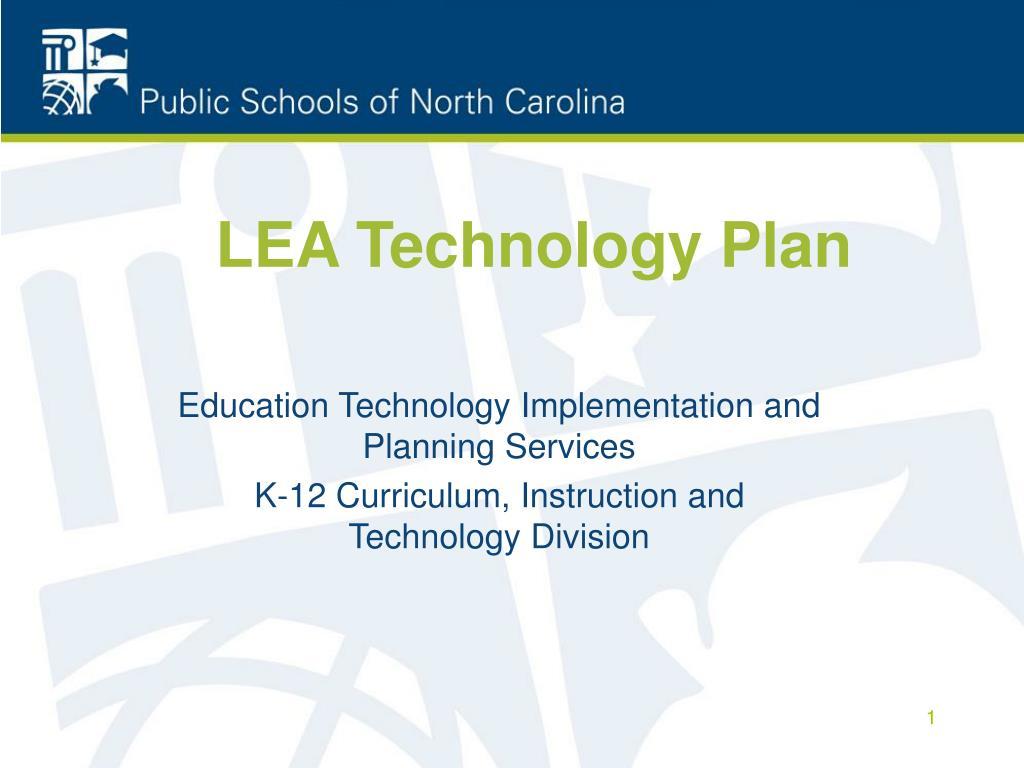 lea technology plan l.