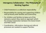 interagency collaboration the philosophy of working together