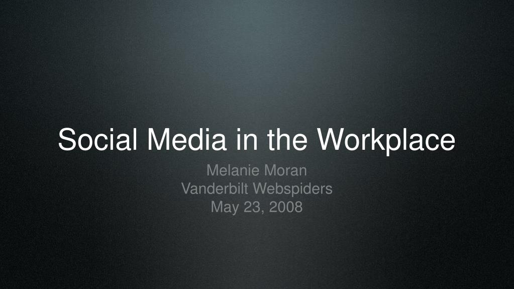 social media in the workplace l.