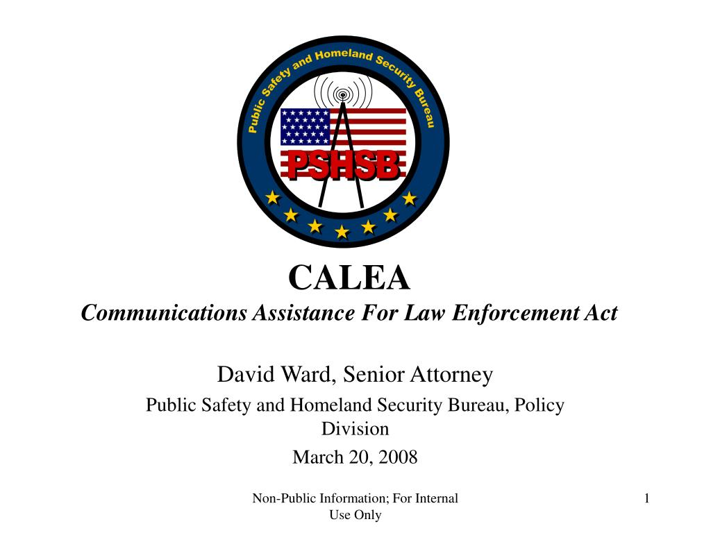 calea communications assistance for law enforcement act l.