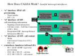 how does calea work lawful intercept interfaces
