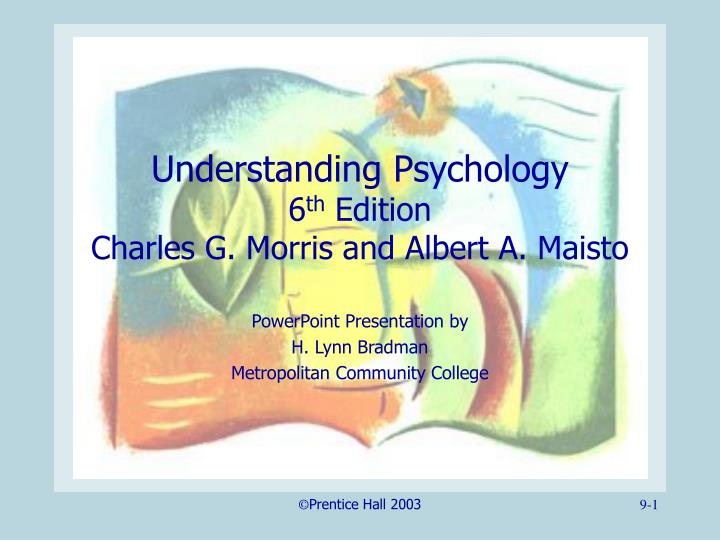 understanding psychology 6 th edition charles g morris and albert a maisto n.