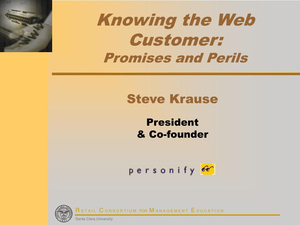 Knowing the Web Customer: