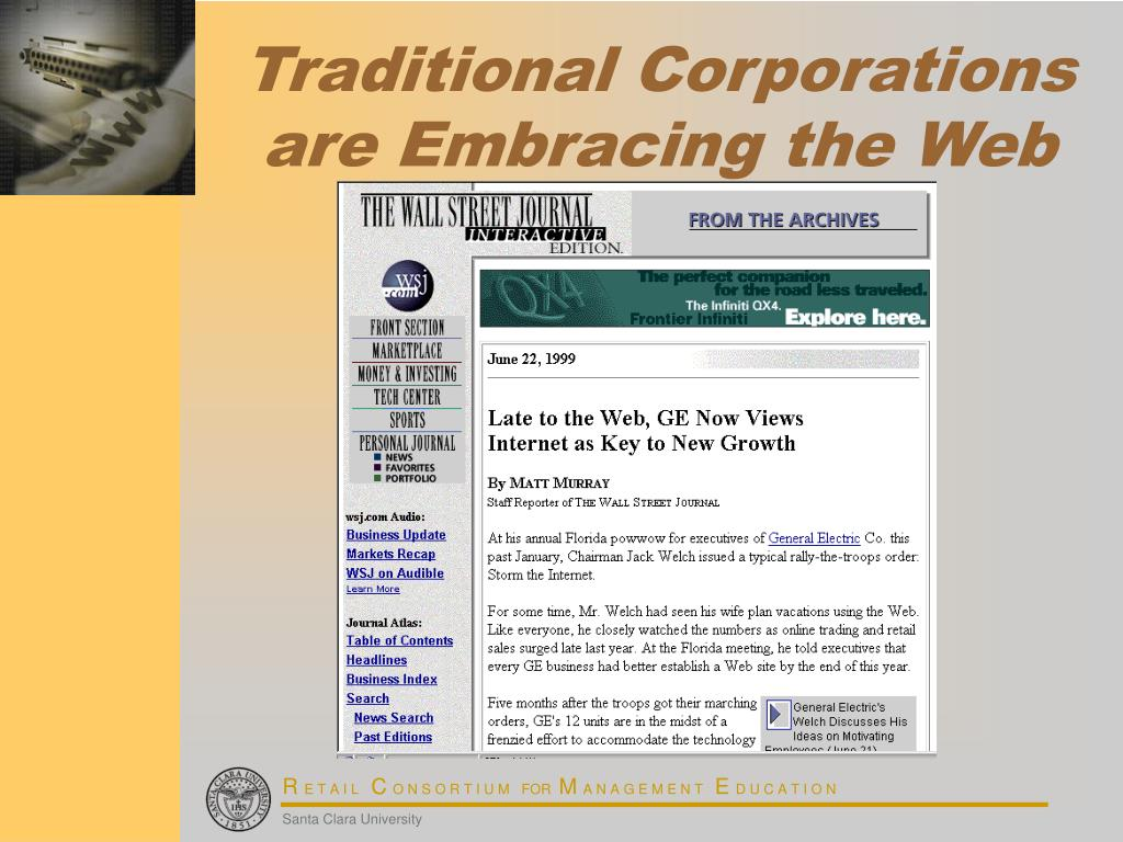 Traditional Corporations are Embracing the Web