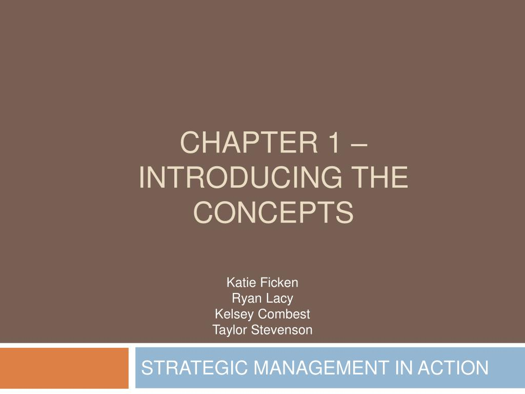 chapter 1 introducing the concepts l.