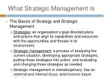 what strategic management is