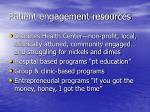 patient engagement resources
