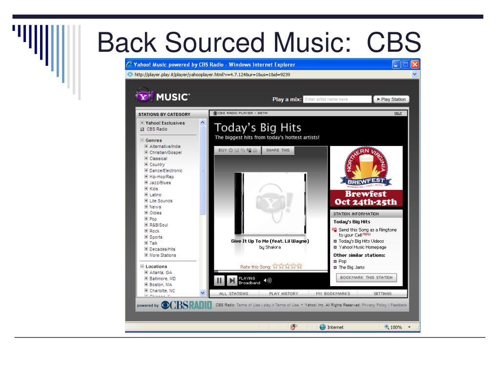 Back Sourced Music:  CBS