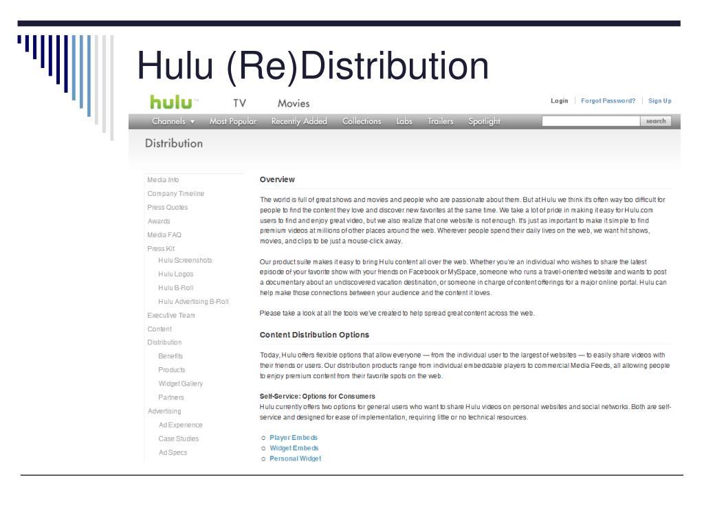 Hulu (Re)Distribution