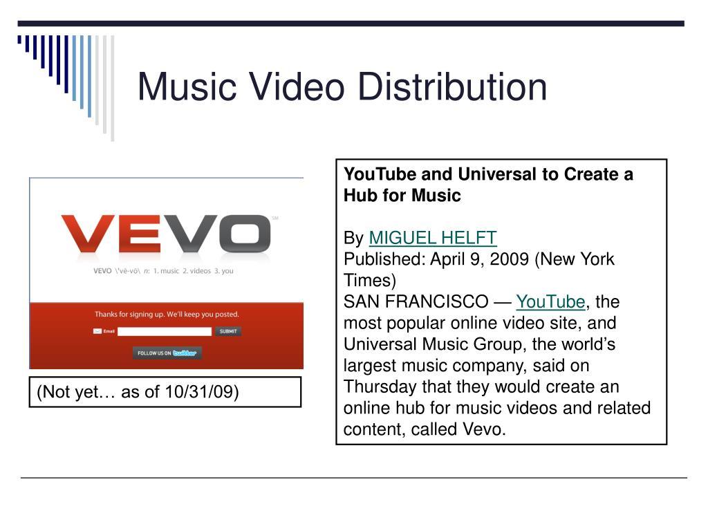 Music Video Distribution