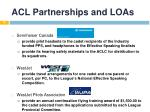 acl partnerships and loas16