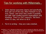 tips for working with millennials