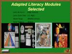 adapted literacy modules selected