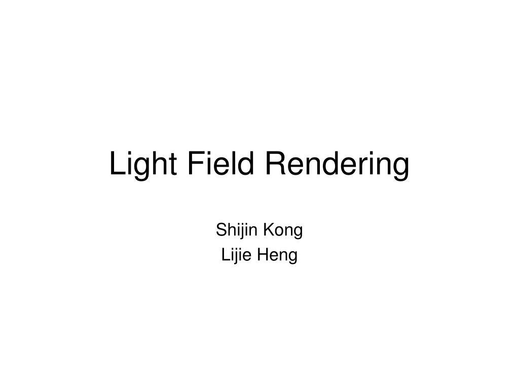 light field rendering l.