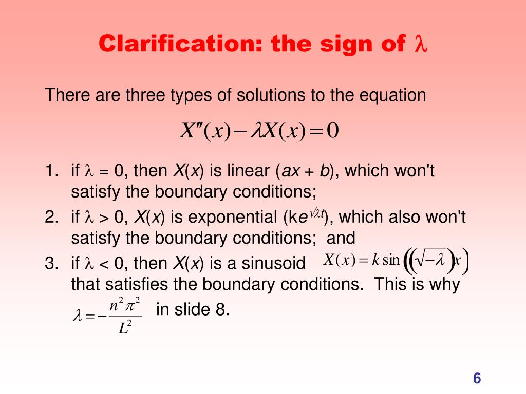 Clarification: the sign of