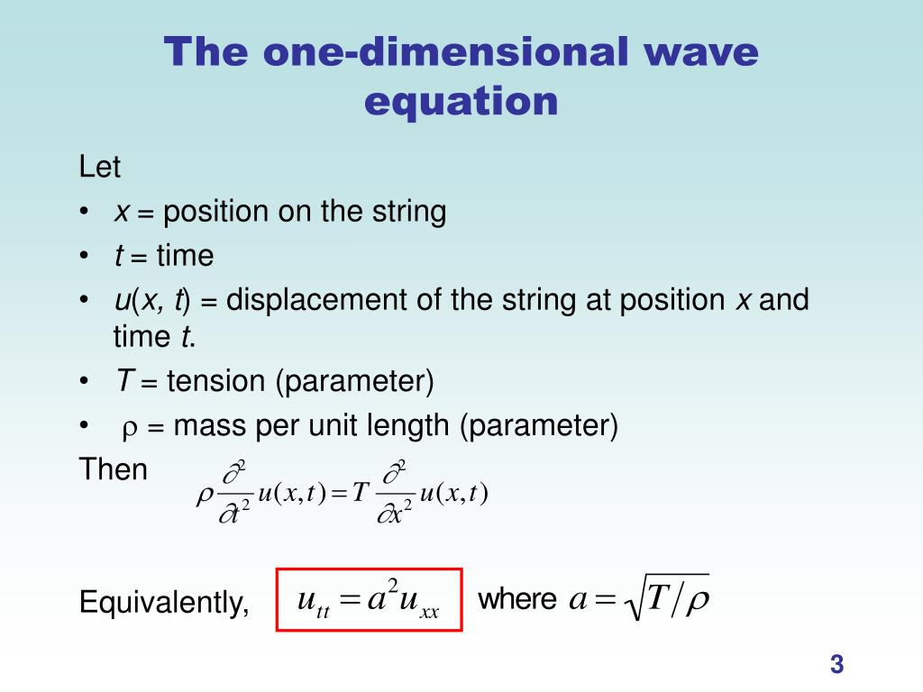 PPT - The Wave Equation PowerPoint Presentation - ID:7018