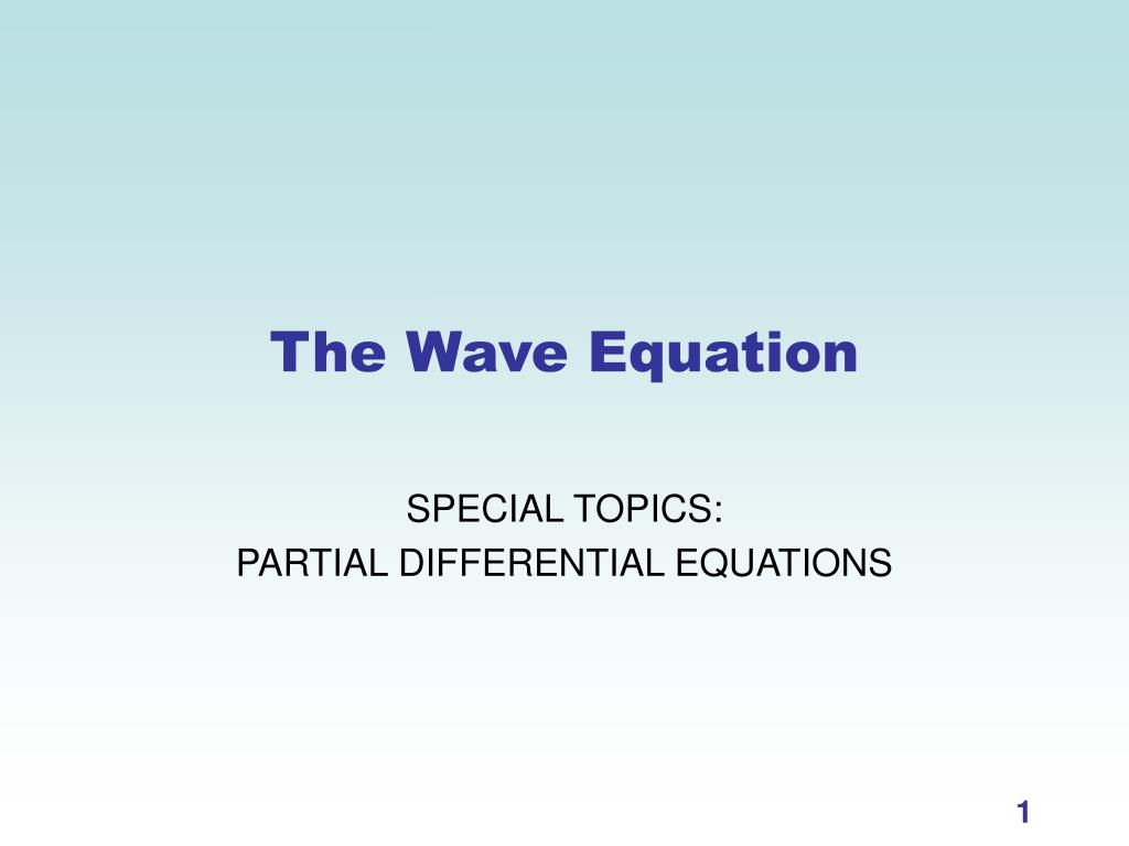 the wave equation l.